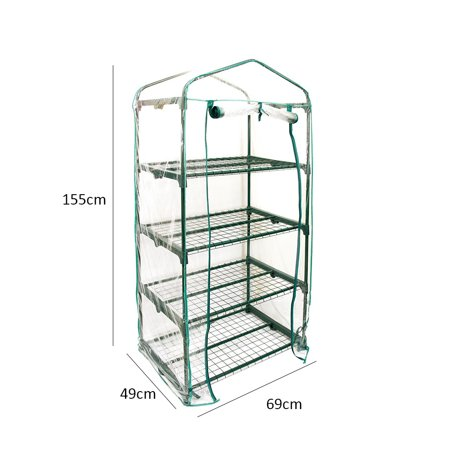 Best Chioce PVC Warm Garden 4 Tier Mini Household Plant Greenhouse Cover (without Iron