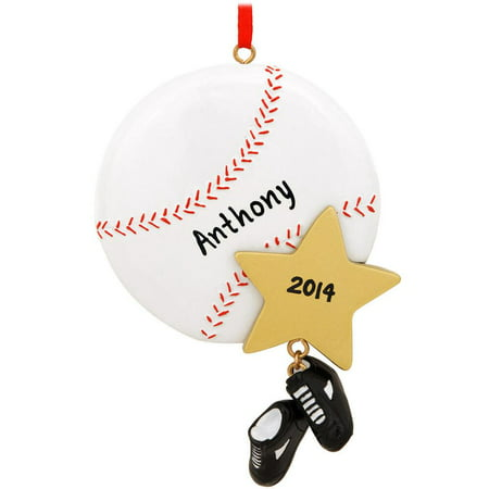 Baseball Star Personalized Christmas Ornament DO-IT-YOURSELF - Baseball Christmas