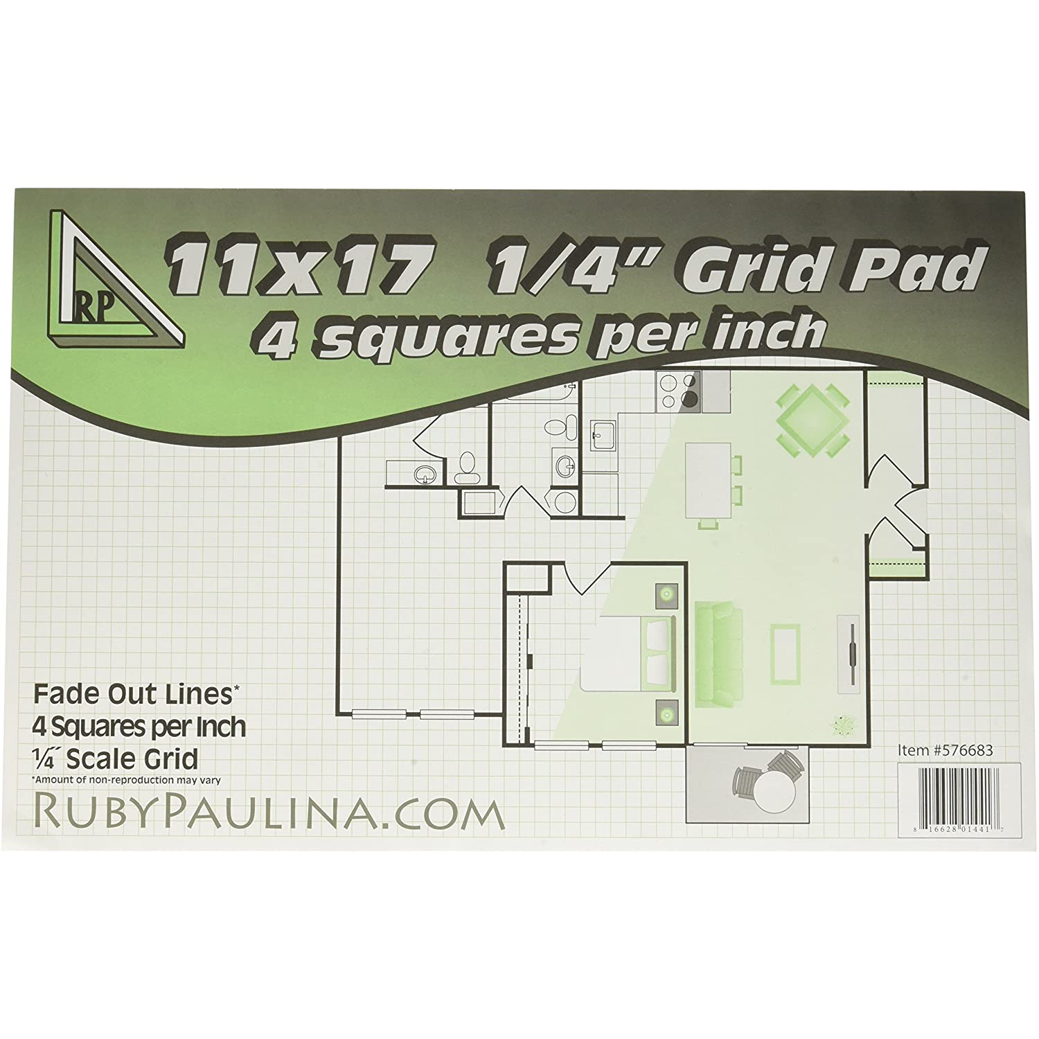 11x17 Blueprint and Graph Paper 1 Pad