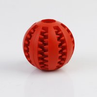 Pet Feed Ball Toy Fun Pet Rubber Ball Chew Treat Non-toxic Pet Interactive Play Red
