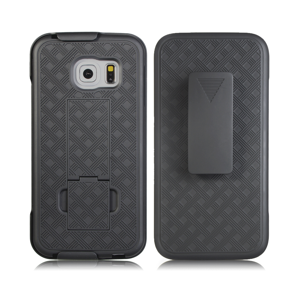 Samsung Galaxy S7 Slim Hard Shell Shield Layer Holster Case with Kickstand