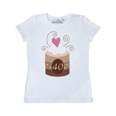 40th Birthday Cupcake Women's T-Shirt](40th Birthday Shirts)