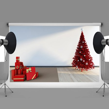 hellodecor polyster 7x5ft christmas backdrops indoor gift christmas tree christmas backdrops photography