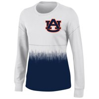 Women's White Auburn Tigers Oversized Fan Long Sleeve T-Shirt