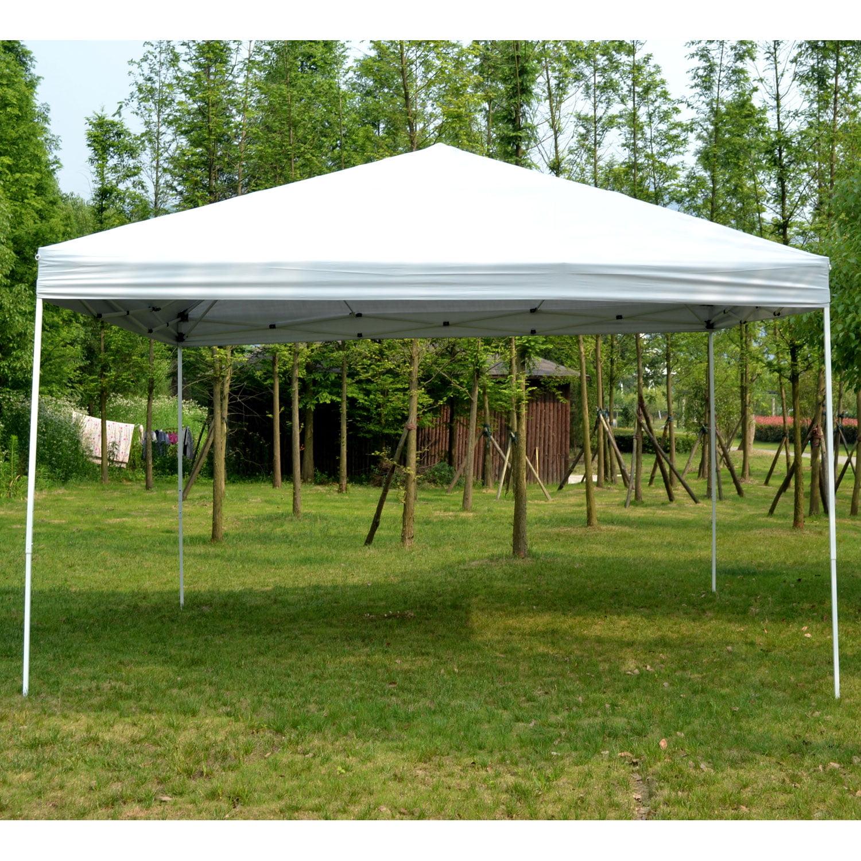 & Outsunny 13u0027 x 13u0027 Easy Canopy Pop Up Tent - Light Gray - Walmart.com