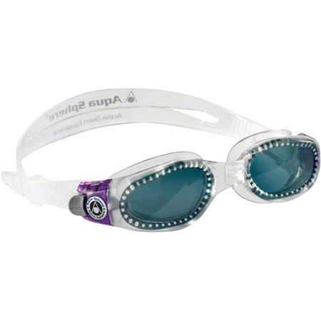 Lady Goggles - Aqua Sphere Kaiman Lady Goggles: Clear/Purple with Smoke Lens
