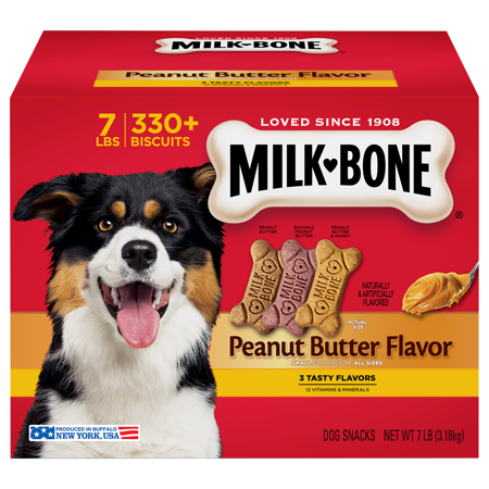 Milk-Bone Peanut Butter Dog Treats Variety Pack, Small, 7 Lb. (Peanut Butter Dog Bones)