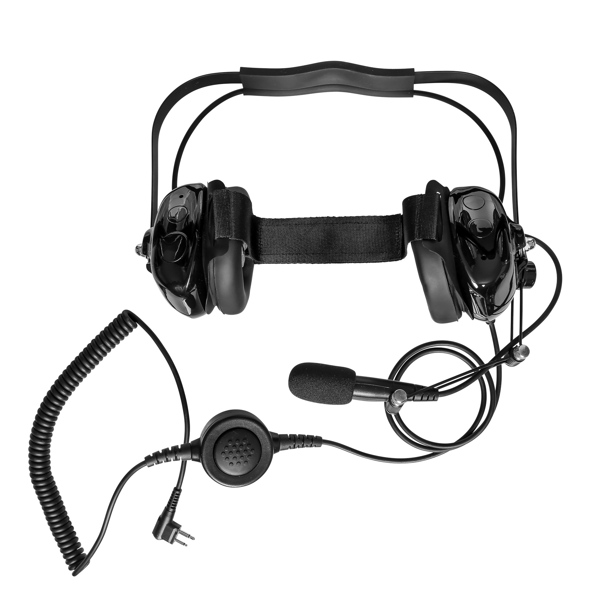 Maxtop AHDH0032-BK-M1 Two Way Radio Noise Cancelling Headset for Motorola CP200