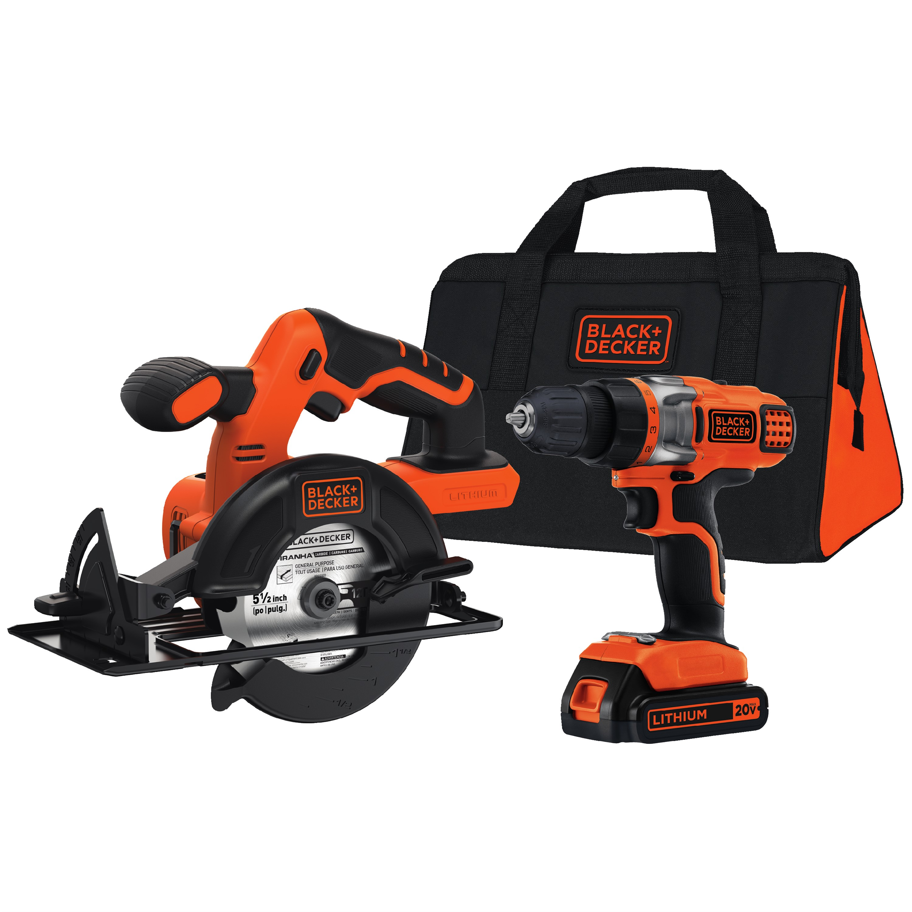 BLACK+DECKER BDCD220CS 20-Volt MAX* Lithium Ion Drill & Circular Saw Combo Kit