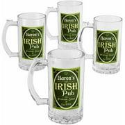 Personalized Premium Irish Pub Beer Mug, 16 oz - Set of 4