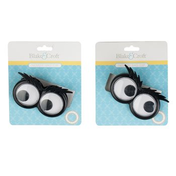 BAG CLIP GOOGLY EYE W/BUSHY BROW TIEON CARD/12PC MDSG STRIP, Case Pack of 48