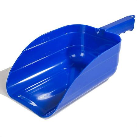 Miller Plastic Feed Scoop, 2 1/2-Inch, Blue Miller Enclosed Feed Scoop