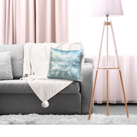 Hi 'Life is Beautiful' Decorative Pillow and White Throw Set, 2 Pack