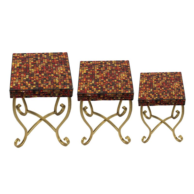Entrada EN23038 3 Piece Square Mosaic Table