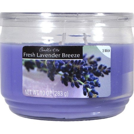 Candle-lite 10 Ounce 3-Wick Fresh Lavender Breeze Jar Candle