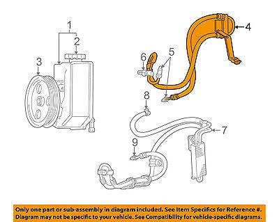 Genuine Chrysler 68146830AA Power Steering Pressure Line