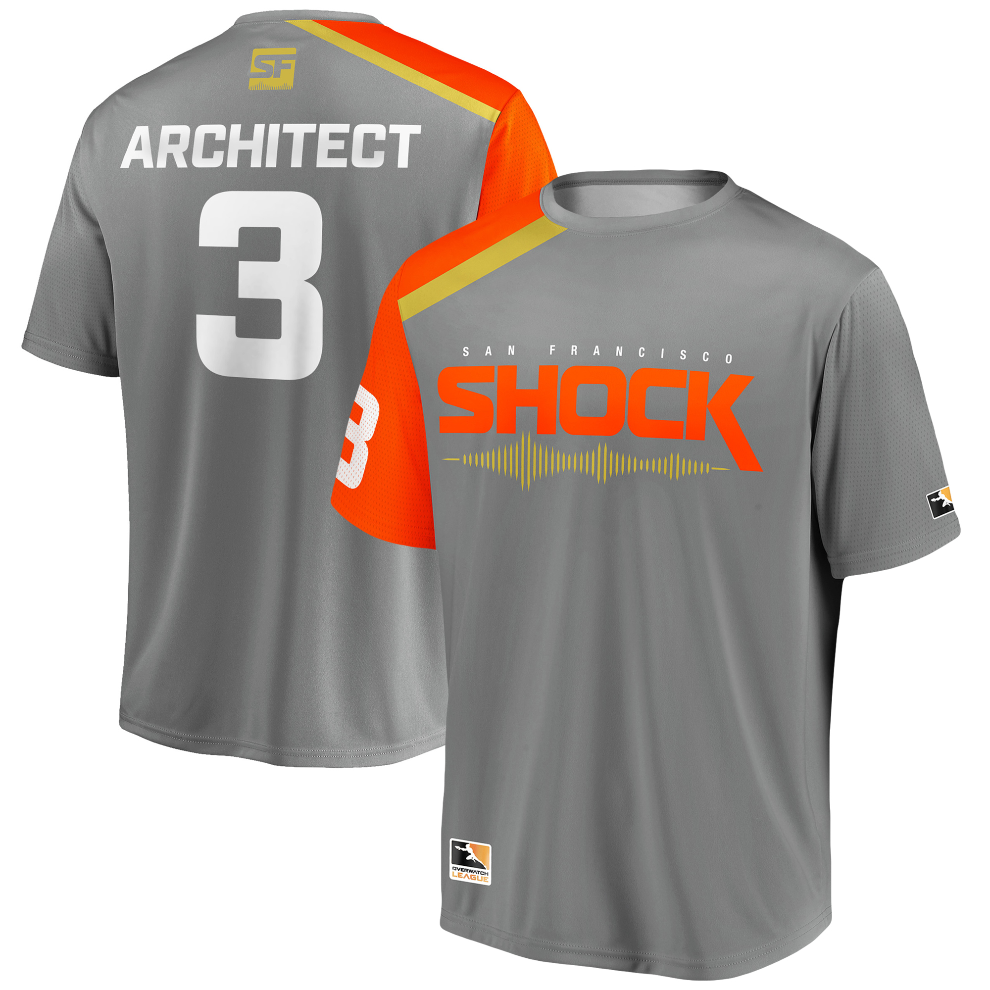 Architect San Francisco Shock Overwatch League Replica Home Jersey - Gray