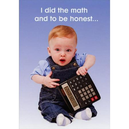 Oatmeal Studios Baby with Calculator Funny / Humorous 65th Birthday Card (65th Birthday Ideas)