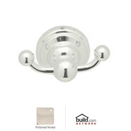 Rohl Perrin and Rowe Double Hook Robe Hook, Available in Various Colors