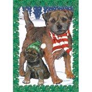 Pipsqueak Productions C511 Holiday Boxed Cards- Border Terrier