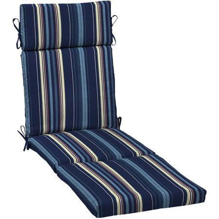 Better homes and gardens outdoor patio chaise lounge cushion - Walmart lounge cushions ...