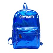 Backpack Women Fashion Leather Large Capacity Holographic School Bookbag