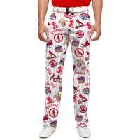 St. Louis Cardinals Loudmouth Retro StretchTech Pants - White/Red