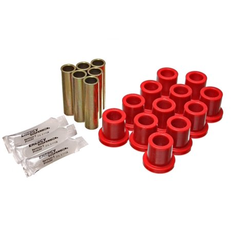 Energy Suspension 57-72 Ford F-100 / F-150 Rear 2WD Red Spring and Shackle Set