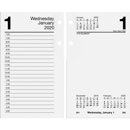 At-A-Glance, AAGE7175020, Loose-leaf Daily Desk Calendar Refill, 1 Each, -