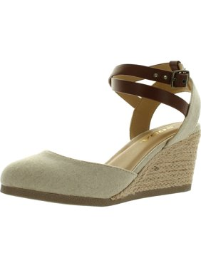 c73171e3501 Product Image Soda Womens Request Closed Toe Espadrille Wedge Sandal in  Natural Tan Linen