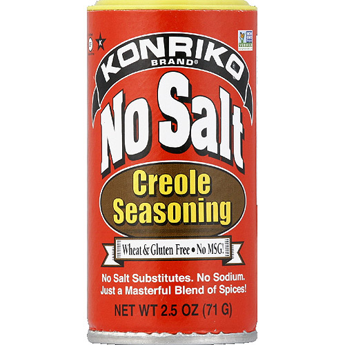 Konriko No Salt Creole Seasoning, 2.5 oz, (Pack of 12)