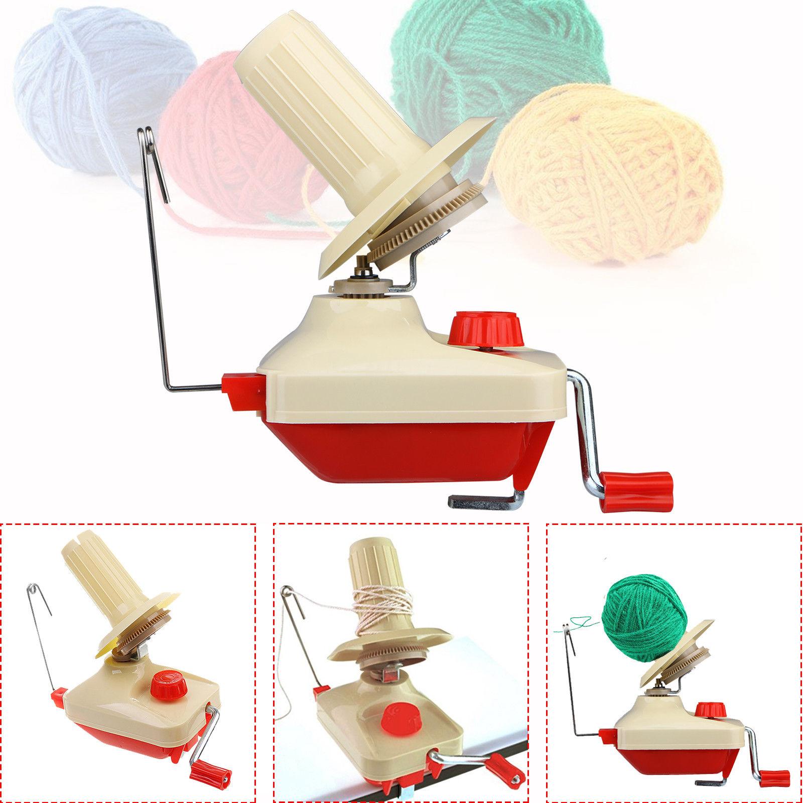 Hand Operated Knitting Roll String Yarn Fiber Wool Thread Ball Winder Holder