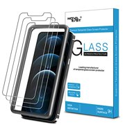Novaeast Tempered Glass for iPhone 12 Pro Max Screen Protector with Easy Installation Frame 5.4 Inch 3-Pack