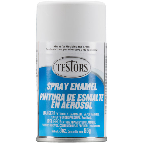 Testors Spray Paint, Flat White, 3 oz