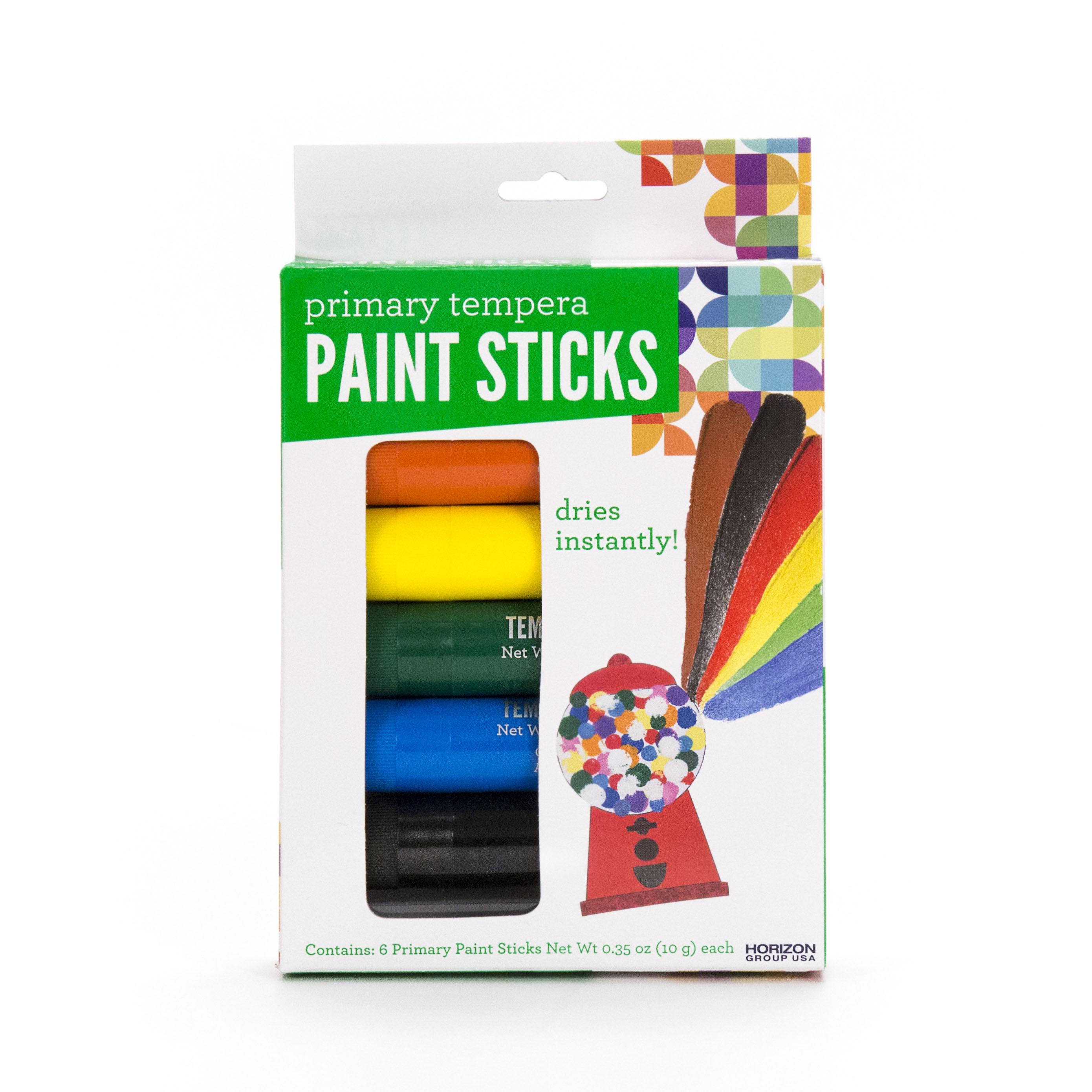 Primary Tempera Paint Sticks by Horizon Group USA