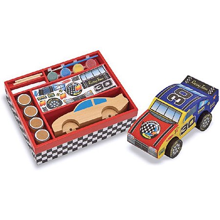 - Melissa & Doug Decorate-Your-Own Wooden Race Car Craft Kit
