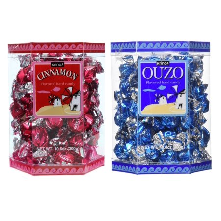 Krinos Ouzo Licorice Flavored Hard Candy, Individually Wrapped, Unique & Colorful, Perfect for Parties - - Individually Wrapped Buttermints