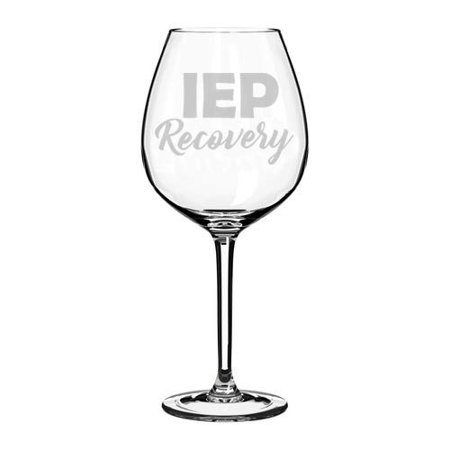 Wine Glass Goblet Special Education Teacher IEP Recovery (20 oz Jumbo) (Special Wing)