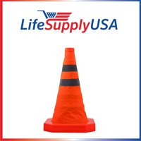 4 Pack Collapsible Traffic Cones 15.5 inch Reflective Multi Purpose Pop up Road Safety Extendable Cone