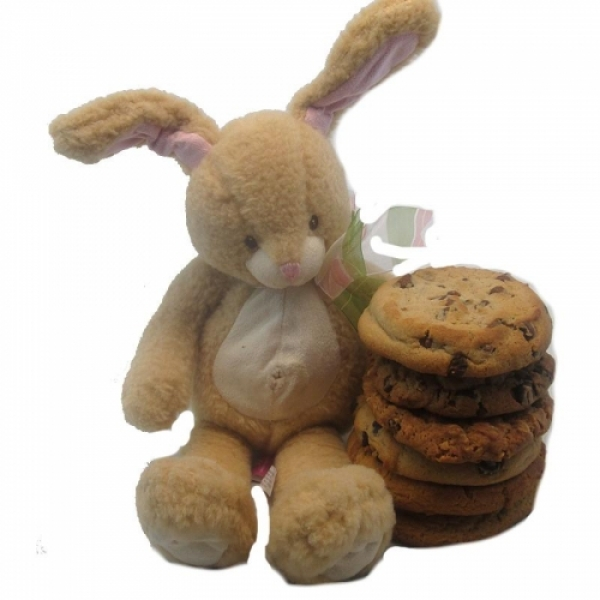 Bunny Gourmet Cookie Gift With 6 Cookies by