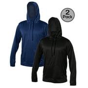 Blank Activewear Pack of 2 Men's Hoodie Mock Neck, Kangaroo Pocket, Fleece 100% polyester