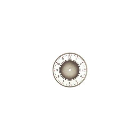 MACs Auto Parts  32-15228 Glove Box Clock Face - Gray - 35 - Early 36 - Ford