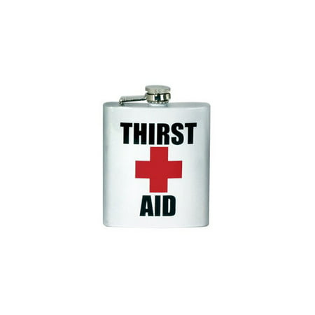 SPOONTIQUES 15770 7OZ  HIP FLASK  THIRST AID](Thirst Aid)