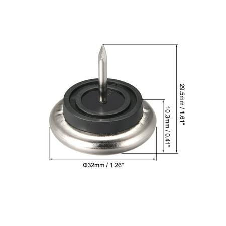 Coussinets ameublement cloué base nickel Protecteur pied chaise table 32mm Dia - image 1 de 3