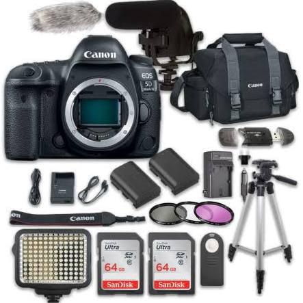 canon eos 5d mark iv digital slr camera bundle (body only) + video creator accessory bundle (14 items)