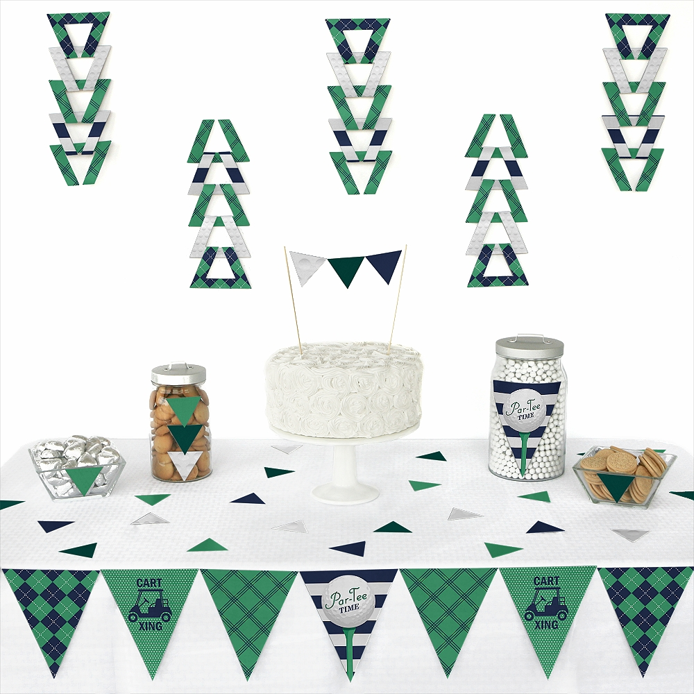 Par-Tee Time - Golf - Triangle Birthday or Retirement Party Decoration Kit - 72 Pieces