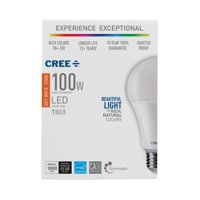 Cree 100W Equivalent Soft White (2700K) A21 Dimmable Exceptional Light Quality LED Light Bulb