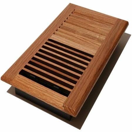 Decor grates wood louvered register natural oak 6 x 10 for Decor grates