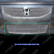 Fits 11-12 Honda Accord Sedan Bumper Stainless Double Wire X Mesh Grille Grill