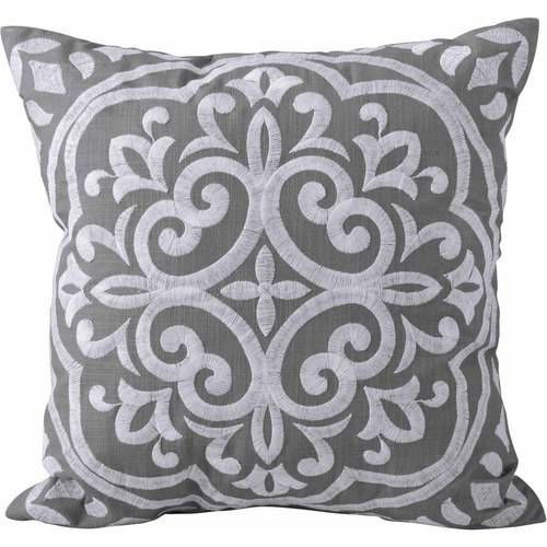 Better Homes and Garden Block Embroidered Medallion Decorative Pillow by Keeco LLC